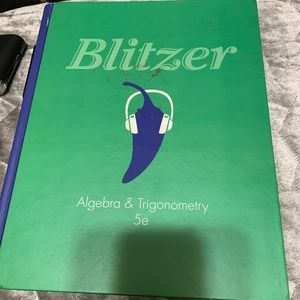 Algebra & Trig textbook
